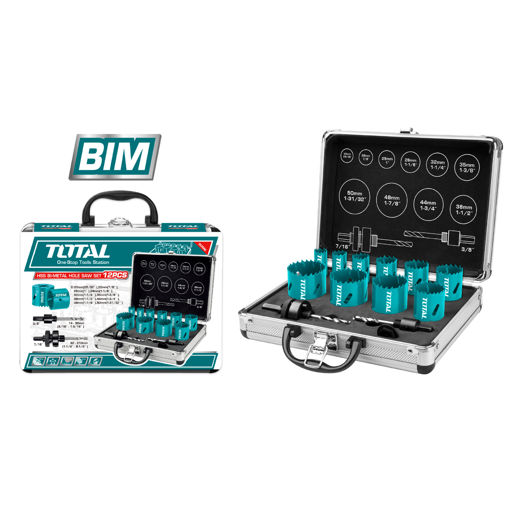 Picture of 12 Piece Bi-Metal Hole Saw Kit in Aluminum Case